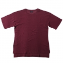플라스틱(FLASTTIC) Box loose t-shirt/wine