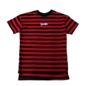 플라스틱(FLASTTIC) Stripe t-shirt/Red&Black