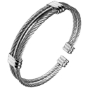 마크-4() [MARK-4] ROPE BANGLE (SILVER)