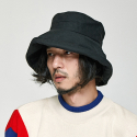 밀리어네어햇(MILLIONAIRE HATS) (HIDE YOUR FACE) OVER BUCKET HAT [BLACK]