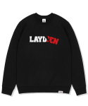 레이든() PAPER CUT SWEATSHIRTS-BLACK
