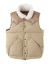 아웃스탠딩(OUTSTANDING) WILD MOUTON DUCK DOWN VEST [BEIGE]