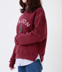 메종드슈크레(MAISON DE SUCRE) [기모]CLOVER SWEAT SHIRTS [WINE]