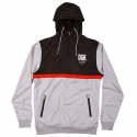 디지케이(DGK) Cross Over Custom Hybrid Hooded Fleece - Black/Ath Heather