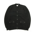 유에스에이 머친다이징() U.S.A MERCHANDISING ANYTHING BUCKSHOT CARDIGAN (BLACK)