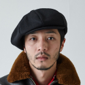 밀리어네어햇(MILLIONAIRE HATS) BIG APPLE [2WAY] - BASIC COLOR NEWSBOY CAP - BLACK