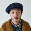 밀리어네어햇(MILLIONAIRE HATS) BIG APPLE [2WAY] - BASIC COLOR NEWSBOY CAP - BLUE