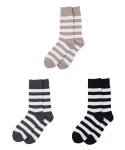 타타삭스() [3개 SET] MILESTONE awning stripe socks 3P