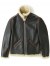 아웃스탠딩(OUTSTANDING) TYPE B-6 MOUTON FLIGHT JACKET [DARK BROWN]