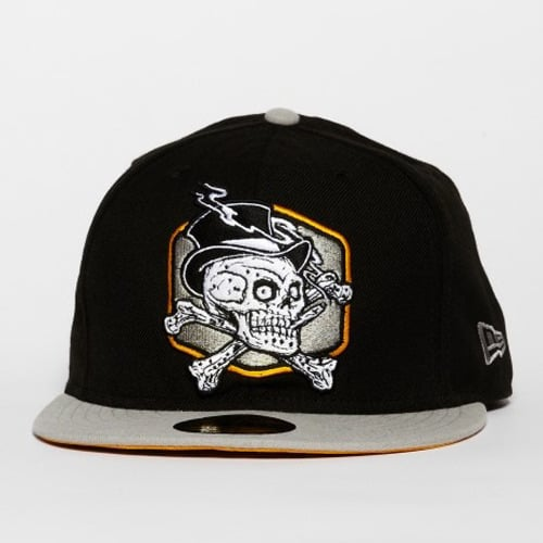 레벨8(REBEL8) REBEL8 SMOKING SKULL NEW ERA (BLACK/GREY)