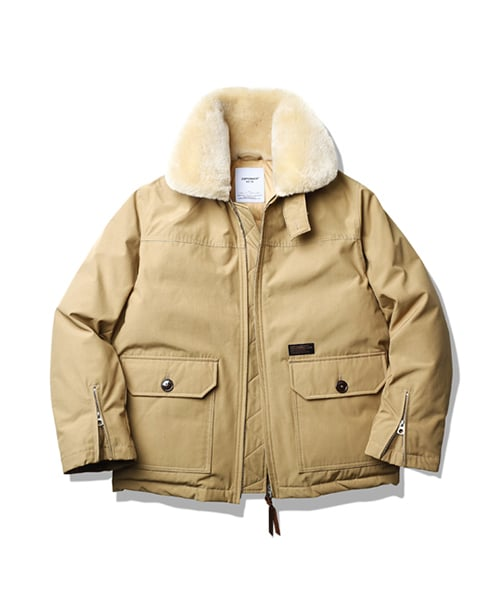 에스피오나지(ESPIONAGE) Akron Classic Down Jacket Beige