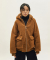 에스토(ESTO) ESTO FLEECE HOOD JUMPER BROWN