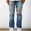 러스틱다임(RUSTIC DIME) RUSTIC DIME DIME DENIM (Dirty Ripped Indigo)