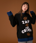 러브이즈트루(LUV IS TRUE) (UNISEX)CE COFFEE KNIT_BK