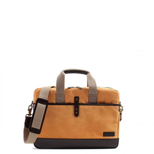 브로이스터(BROISTER) WAXED COTTON BRIEFCASE l MUSTARD