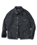 COATING TRUCKER JACKET (BLACK)