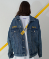 SAFETY BELT DENIM JACKET (BLUE)