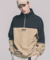 USF HALF ZIP SWEAT SHIRTS BEIGE