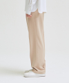 SUPER WIDE SLACKS_SS PINK BEIGE