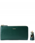 버빌리안() Leather Long Wallet -  DARK GREEN [테슬 포함]