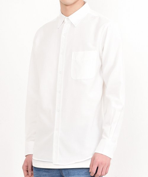 쟈니웨스트(JHONNY WEST) Pigment Cotton Shirts (White)