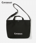 커버낫(COVERNAT) AUTHENTIC LOGO 2WAY BAG BLACK