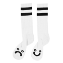 폴라() Happy Sad Classic Socks - White/Black
