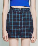 아파트먼트() Holy Light Skirt - BlueBlack