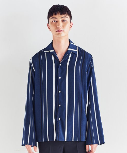 트립르센스(TRIP LE SENS) MULTI ST OPEN SHIRTS NAVY