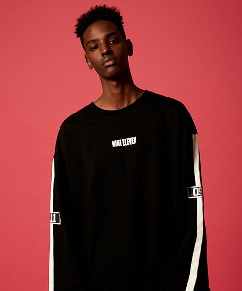 나인일레븐(NINE ELEVEN) The long sleeve tee - Black