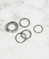 Surgical Steel Enough Set Rings For Women