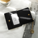 디랩(D.LAB) [★별자리 키링 증정] D.LAB Coin name card wallet - Black