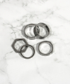 Surgical Steel Enough Set Rings For Men