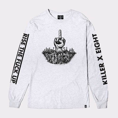 레벨8(REBEL8) REBEL8 X KILLER MIKE Risen Long sleeve Tee