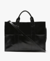 LEATHER 3WAY POCKET BAG (BLACK)