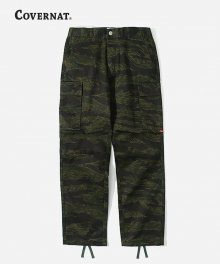 COTTON TWILL CARGO PANTS CAMO