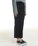 메리먼트(MERRIMENT) STRIPE SLACKS (BLACK)