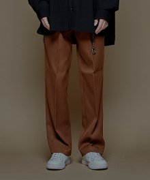 SUPER WIDE SLACKS_F BROWN