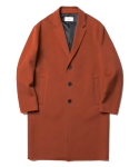 인사일런스(IN SILENCE) Lydian Handmade Cashmere Coat Brick Red