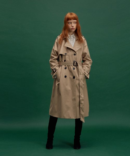 노이커먼(NOYCOMMON) NC TRENCH LONG COAT BG