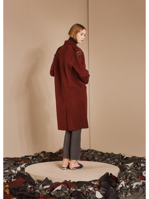 드퐁(DEFOND) LONG EQAULETTE HANDMADE COAT_RED