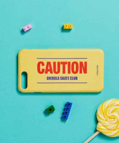 로라로라(ROLAROLA) (ETC-012)CAUTION PHONE CASE YELLOW