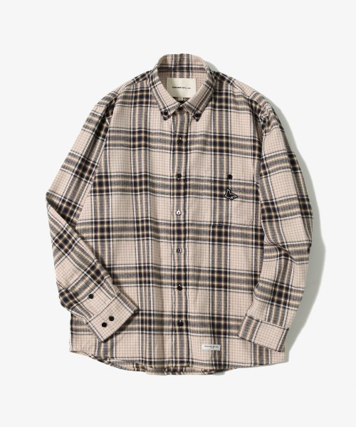 제로(XERO) Sealion - Flannel Check Shirts [Ivory]