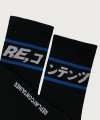 blue line socks (black)