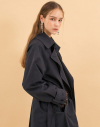 17FW Maxi Trench Coat - Navy