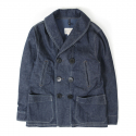 아웃스탠딩(OUTSTANDING) US NAVAL DENIM PEA COAT[INDIGO]