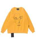 돈애스크마이플랜(DAMP) THE FACE SWEAT SHIRT YELLOW