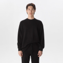 OPT17FWTS02BK Raglan cotton-jersey sweatshirt Black