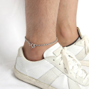 러쉬오프(RUSH OFF) [Unisex] Unusual Chain Ankle Bracelet (Surgical Steel)/ 언유즈얼 체인 발찌