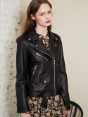 룩캐스트() BLACK LAMBSKIN LEATHER JACKET